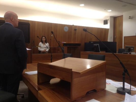 Bruce Whitehead speaking at a Mock Court